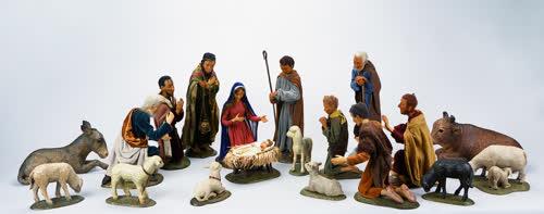 Krippenfiguren in der katholischen Kirche