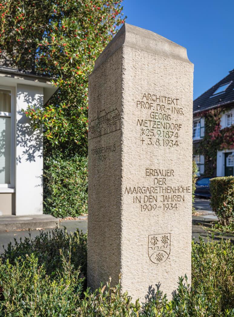 Stele für Georg Metzendorf